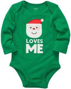 Carter's Unisex Baby Santa Loves Me Bodysuit: Clothing - Christmas - kerstmis - holidays