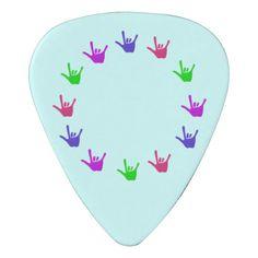 Circle of Love Sign Language Hands Guitar Picks Pick #guitarpicks #love #circleoflove #music