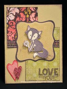 Krista's Crafty Corner: Wild About Love - Feb 2014 SOTM Blog Hop #IvyLane #IvyLaneCardmaking #ArtPhilosophy