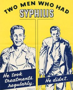 Syphilis awareness poster from the 1940s
