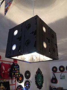 Cortina de lámpara de cubo reciclado VHS Video Cassette cinta por AsBeAu rEtRo!