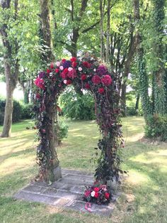 Outdoor Wedding Ceremony Floral Archway
