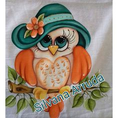 Tole Painting, Fabric Painting, Painting On Wood, Cute Disney Drawings, Cute Drawings, Owl Pictures, Nursery Paintings, Animal Quilts, Owl Patterns