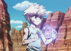 Killua Electricity Hunter Hunter Lightning Photos 18423station.gif