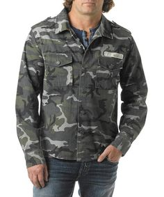 Green Camo Army Jacket by Silver Jeans Co. #zulily #zulilyfinds