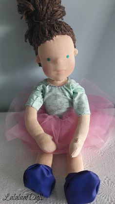 Waldorf doll 18 handmade ragdoll ballerina for sale
