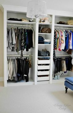 - Magnificent Ikea Hacks trend Toronto Transitional Closet Decorators with Built in walk in closet custom-made DIY dressing room ikea hack Ikea Pax mouldings Thank to Classy Glam Living Master Bedroom Closet, Home Bedroom, Loft Bedrooms, Master Bedrooms, Master Suite, Bedroom Decor, Ikea Malm White, Diy Dressing, Ikea Dressing Room