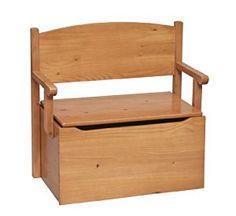 Little Colorado Bench Toy Box- Honey Oak