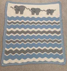 fd897603d70 Elephant March baby blanket : crochet Elephant Baby Blanket, Crochet  Elephant, Baby Girl Blankets