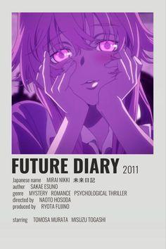Animes To Watch, Anime Watch, Otaku Anime, Manga Anime, Poster Anime, Anime Cover Photo, Anime Titles, Anime Reccomendations, Future Diary