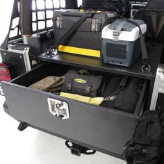 Storage and security is the number one concern for all Jeep owners and now you have an option with this lockable storage vault for the Jeep Wrangler & Unlimited. Each box is manufactured out of 16-gauge cold rolled steel and is powder coated in Smittybilt's signature series two stage black powder coat. The solidly built drawer supports up to 350 pounds, The high-grade steel slides offer smooth, quiet operation for some of your heaviest applications.  Available for the 1997 to 2011 Jeep…