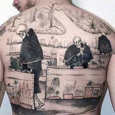 Garden of death..Hugo Simberg`s art . Tattoo by Taneli Jarva, photo by Tuukka Ahonen.