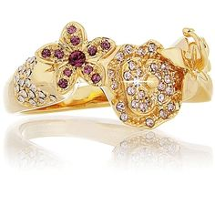 Dior Exotic Gold Flower Ring #gold #ring http://www.loveitsomuch.com/