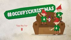 #Christmas #cards #2013 #Design #Graphic #occupychristmas #elves #happychristmas #hippy