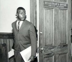 Harvey Gantt Leaving the Clemson Registrar's Office, 1963  Brian Scott, photographer  Harvey Gantt was the first African American student to enroll in Clemson University. He graduated with honors, earning a degree in architecture. In 1970, Gantt was awarded a master's degree in city planning from MIT. He went on to become a successful architect, businessman and politician and in 1983, became the first African American mayor of Charlotte, NC.