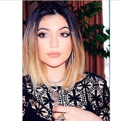 Pretty Kylie Jenner in our Lillian Gold Crescent Moon and Star Necklace! Available on our website! #vanessamooney #kyliejenner http://www.vanessamooney.com/coachella/lillian-gold-short-necklace.html
