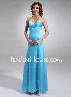 Bridesmaid Dresses - $95.99 - Empire Sweetheart Floor-Length Satin Bridesmaid Dresses With Ruffle (007001921) http://jenjenhouse.com/Empire-Sweetheart-Floor-length-Satin-Bridesmaid-Dresses-With-Ruffle-007001921-g1921
