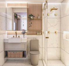Small Bathroom Interior, Bathroom Layout, Minimalist Kitchen, Decor Interior Design, Double Vanity, Toilet, Sweet Home, New Homes, Bathtub
