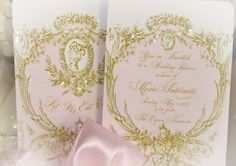 la pink paperie The blog for Paper Nosh: Let Us Eat Cake Marie Antoinette Pink Cameo Wedding Invitations and Pink Peony Boxes