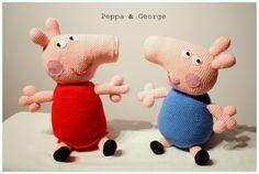 Amigurumi Peppa & George #amigurumi #amigurumis #peppa #george #świnka #szydełkowe #rodzeństwo #pluszaki #rękodziełko #crochet