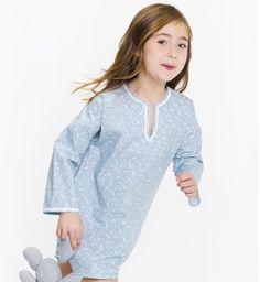 Kaftan tonos azules de Aiana Larocca | Aiana Larocca Moda Infantil