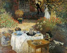 Claude Monet-De lunch (in Monet's tuin Argenteuil)