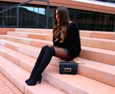Overknees - Night Outfit - LOVE & URBAN