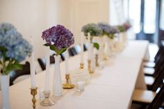 Merrimon Wynne House | Jessica and Josh added some color with their centerpieces! // Three Little Birds Studio