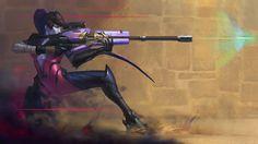 Download Widowmaker Art Overwatch Girl by Dengyijialiu 1920x1080