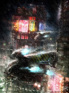 concept ships: Spaceship art by Ridwan Chandra