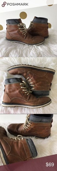 Aldo Aigolt Men's Boot Men's boot by Aldo! The Aigolt style is a cool combination of a sneaker and a boot. General wear on the bottom soles from gentle use, Otherwise in great condition! Aldo Shoes Boots