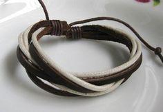 pulseras de cuero trenzado con dijes - Buscar con Google