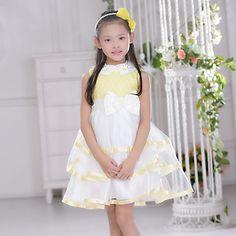 Flower Girl Dress Knee-length Organza Ball Gown Sleeveless Dress – USD $ 39.99