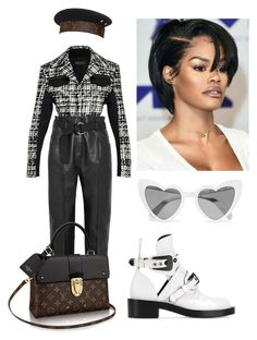 """Untitled #438"" by fashionvintagestylist ❤ liked on Polyvore featuring Balenciaga, Petar Petrov and Yves Saint Laurent"