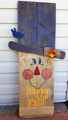 Reversible Scarecrow/Snowman sign can be displayed on your porch or inside your home. Scarecrow side has a crow, burlap bow with fall flowers and says Happy Fall! Snowman side has a cardinal, greens w/berries, and says Let it Snow. This rustic reversible sign is made of rough sawn pine that we sand, paint, antique, and varnish so it last for years to come if displayed in a protective area outdoors, such as a covered porch. If you would like to hang this sign, please select that option when…