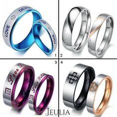 I love blue, how about you ? #jeulia #couplesring #fashionjewelry.