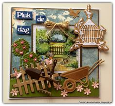 Odette's kaartenhoekje: Scr@p-cards # challenge 95 Marianne Design Cards, Garden Theme, Garden Crafts, Anniversary Cards, Vintage Cards, Making Ideas, Cardmaking, Birthday Cards, Projects To Try