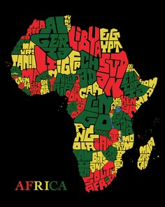 Africa Animals Coloring Pages - - - Africa Kids Free Printable - African Map, African American Art, Rasta Art, Reggae Art, Africa Tattoos, Africa Continent, Africa Flag, Afrique Art, African Art Paintings