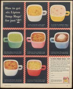 Glasbake Lipton soup mugs