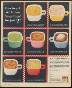 Glasbake Lipton soup mugs