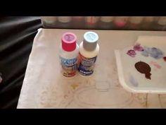Como usar diluente e aquarela Silk nas pinturas em tecido - YouTube