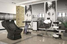 salão de beleza pequeno decorado quadros Hair Boutique, Gaming Chair, Table, Furniture, Home Decor, 30, Grande, Detail, Game Room Design