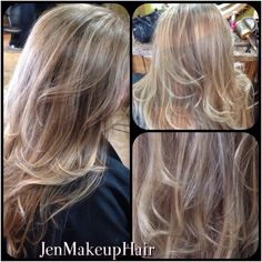Full highlight + a few lowlights (level 7), base retouch (level 8) and pulled through to mid strand. Also added Balayage highlights.