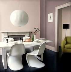 plastic furniture, designer chairs, panton chairs in modern interiors
