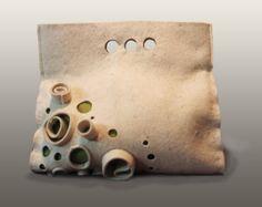 White felted handbag . Handmade felt bag  Moonbeam.  by LIAKURZ, $176.00