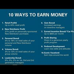 Let's work harder to earn more