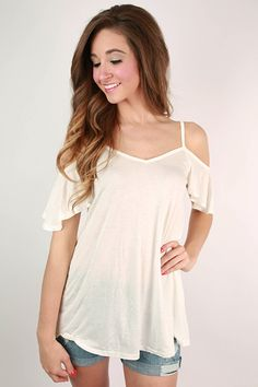 The Cold Shoulder Top in White