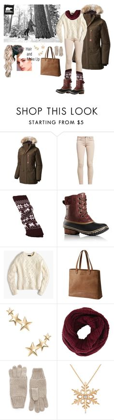 """Tame Winter with SOREL: Contest Entry"" by mirellasandoval12 ❤ liked on Polyvore featuring SOREL, GUESS, J.Crew, Kenneth Jay Lane, BCBGMAXAZRIA, Allurez and sorelstyle"