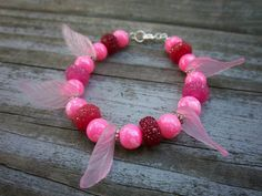 One of a kind fantasy and fairy inspired charm bracelet.