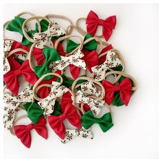 [Time to get festive! Our Christmas bows have been a huge hit traditional all the way  All subscribers and gift orders placed this weekend will be sent Monday! ]